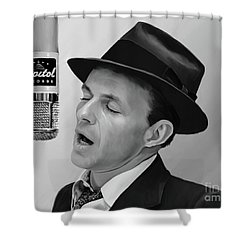 Sinatra Shower Curtain by Paul Tagliamonte