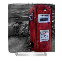 Shower Curtain featuring the photograph Sinclair Gas Pump Sc by Susan Candelario