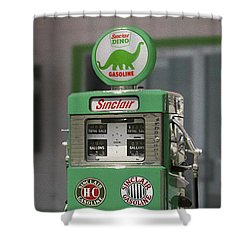 Sinclair Gasoline - Wayne Double Pump Shower Curtain by Mike McGlothlen