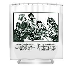 Sing A Song Of Sixpence Nursery Rhyme Shower Curtain