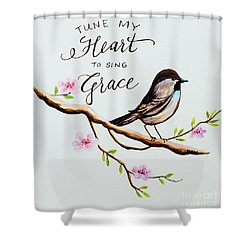 Sing Grace Shower Curtain