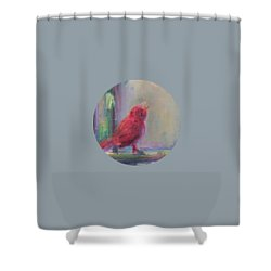 Shower Curtain featuring the painting Sing Little Bird by Mary Wolf