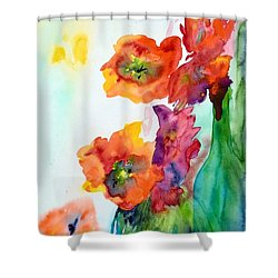 Sing Out Shower Curtain by Beverley Harper Tinsley