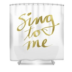 Sing To Me Gold- Art By Linda Woods Shower Curtain
