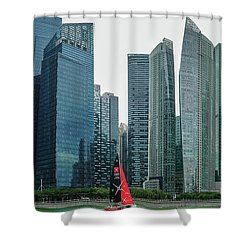 Singapore Harbour Shower Curtain