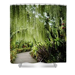 Singapore Orchid Garden Shower Curtain