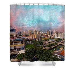 Singapore Rochor Commercial And Residential Mixed Area Shower Curtain by David Gn