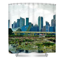 Singapore Skyline Shower Curtain