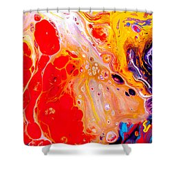 Singer - Colorful Abstract Painting Shower Curtain