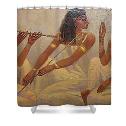Singers Of Pharaoh Shower Curtain