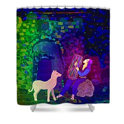 Singing At The Gates Shower Curtain