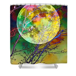 Singing By The Light Of The Moon Shower Curtain