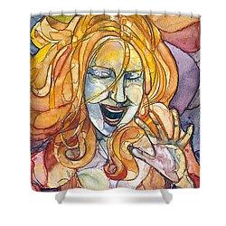 Singing Lady-orange Shower Curtain