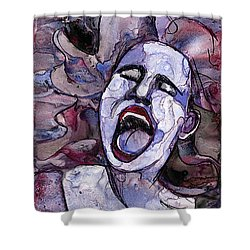 Singing Lady-rock And Roll Shower Curtain