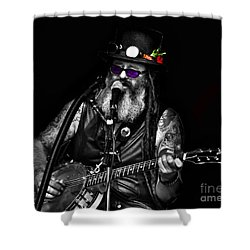 Singing Strings Shower Curtain by Blair Stuart