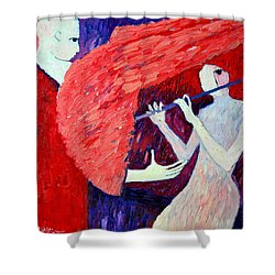 Singing To My Angel 1 Shower Curtain by Ana Maria Edulescu