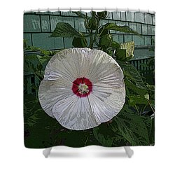 Single Bloom Shower Curtain