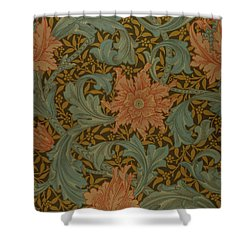 'single Stem' Wallpaper Design Shower Curtain by William Morris