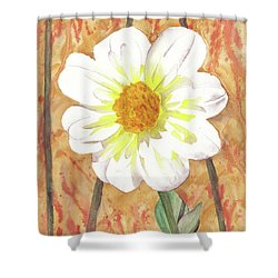 Single White Flower Shower Curtain by Ken Powers