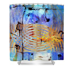 Shower Curtain featuring the painting Singularity by Dominic Piperata