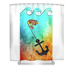 Shower Curtain featuring the mixed media Sink Or Swim By Kaye Menner by Kaye Menner