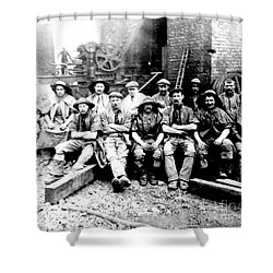 Sinkers,rossington Colliery,1915 Shower Curtain