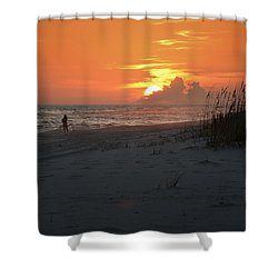 Sinking Into The Horizon Shower Curtain