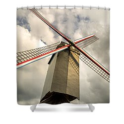 Sint Janshuismolen Windmill 2 Shower Curtain