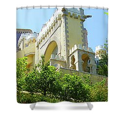 Sintra Castle Shower Curtain by Patricia Schaefer