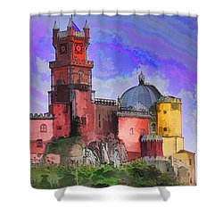 Sintra Palace Shower Curtain by Dennis Cox WorldViews