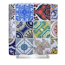 Shower Curtain featuring the photograph Sintra Tiles by Carlos Caetano