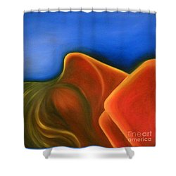 Sinuous Curves Iv Shower Curtain by Fanny Diaz