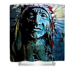 Sioux Chief Shower Curtain by Paul Sachtleben