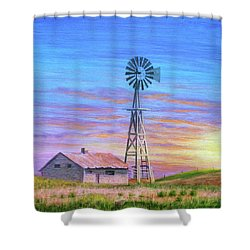 Sioux County Sunrise Shower Curtain by J W Kelly