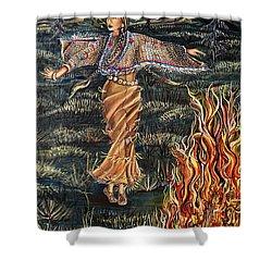 Sioux Woman Dancing Shower Curtain