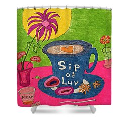 Sip Of Luv Shower Curtain
