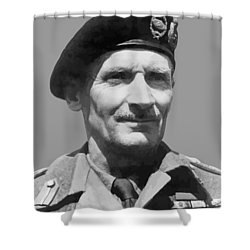 Sir Bernard Law Montgomery  Shower Curtain by War Is Hell Store