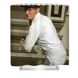 Shower Curtain featuring the photograph Sir Donald Bradman by Miroslava Jurcik