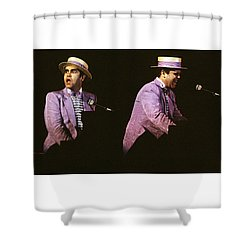 Sir Elton John 3 Shower Curtain by Dragan Kudjerski