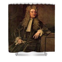 Sir Isaac Newton  Shower Curtain by Sir Godfrey Kneller
