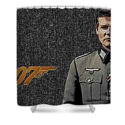 Sir Roger Moore Shower Curtain