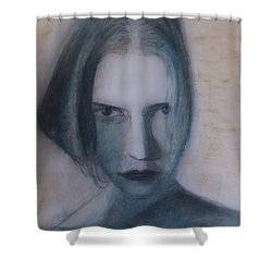 Shower Curtain featuring the painting Siren From The Deep by Jarko Aka Lui Grande