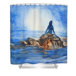 Siren Song Shower Curtain by Marilyn Jacobson