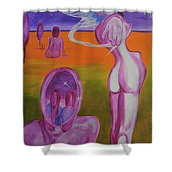 Sirens Shower Curtain by Christophe Ennis