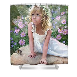 Sissy Fairy Shower Curtain by Rob Corsetti
