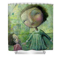 Sister Love Shower Curtain by Eleatta Diver