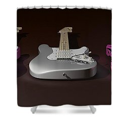 Sister What Have You Done To My Guitars Shower Curtain