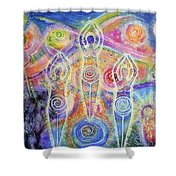 Sisterhood Of The Divine Feminine Shower Curtain by Lila Violet