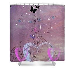 Sisterly Love Shower Curtain by Diamante Lavendar