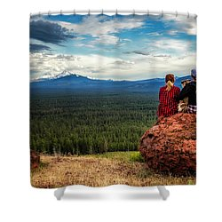Shower Curtain featuring the photograph Sisters by Cat Connor